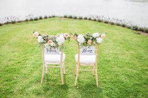 preparing an outdoor wedding